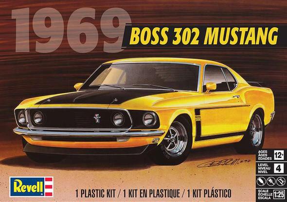 Plastic Model Kit 69' Boss 302 Mustang 1:25