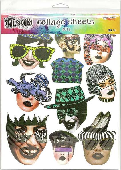 "Dyan Reaveley's Dylusions Collage Sheets 8.5""X11"" 24/Pkg Set 1"