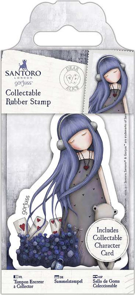 Santoro's Gorjuss Rubber Stamp No. 56 Dear Alice