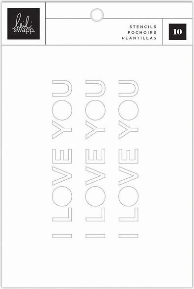 Heidi Swapp Art Walk Stencil Pad 10/Pkg Patterned & Phrase