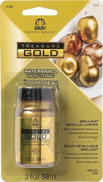 FolkArt Treasure Gold Paint 2oz Gold