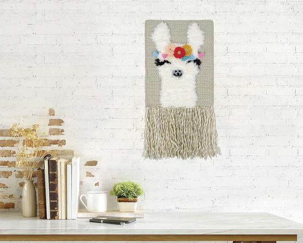 Fabric Editions Needle Creations Crochet Wall Hanging Kit  Llama