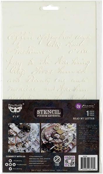"""Prima Marketing Stencil 6""""X9"""" Read My Letter"""