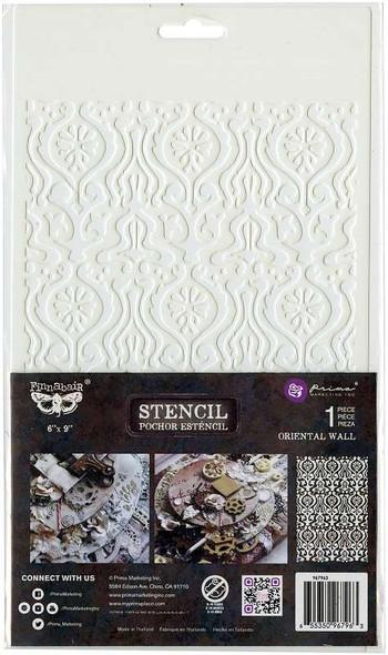 """Prima Marketing Stencil 6""""X9"""" Oriental Wall"""