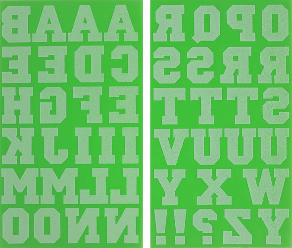 """Jolee's  Iron-On Letters 1.5"""" Lime"""