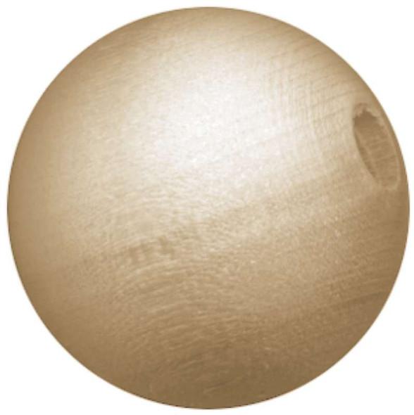 Wood Turning Shapes Round Bead 12mm 15/Pkg