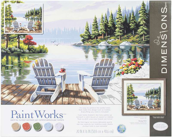 """Paint Works Paint By Number Kit 20""""X16"""" Lakeside Morning"""