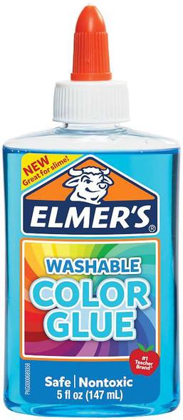 Elmers Transparent Colored Liquid Glue 5oz Blue