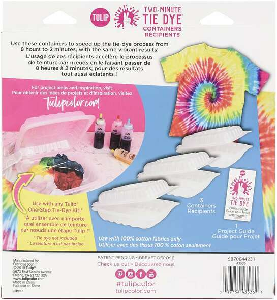 Tulip Two-Minute Tie-Dye Container 3/Pkg