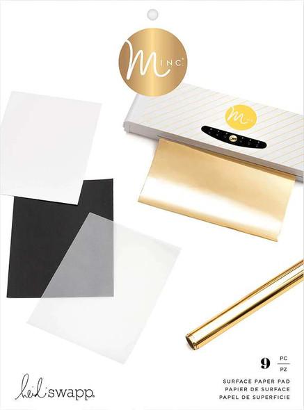"Heidi Swapp Minc Surface Pad 8.5""X11"" 9/Pkg Assorted Surfaces"