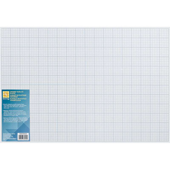 """Gridded Plastic Template 12""""X18"""""""