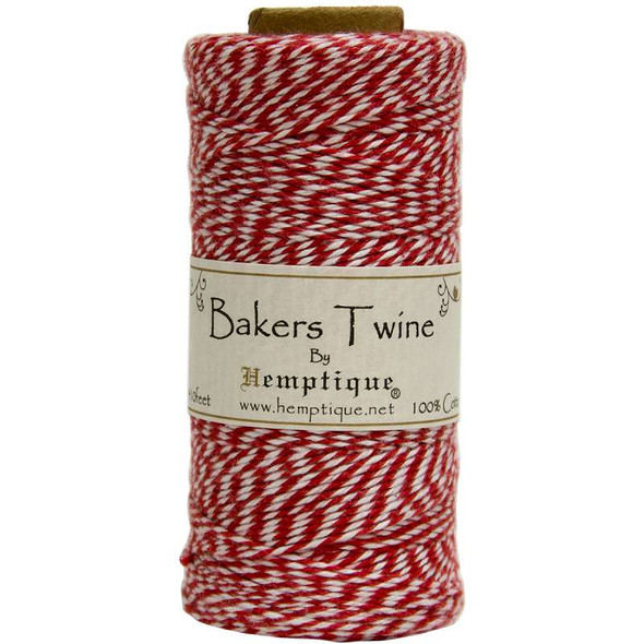 Cotton Baker's Twine Spool 2-Ply 410' Red