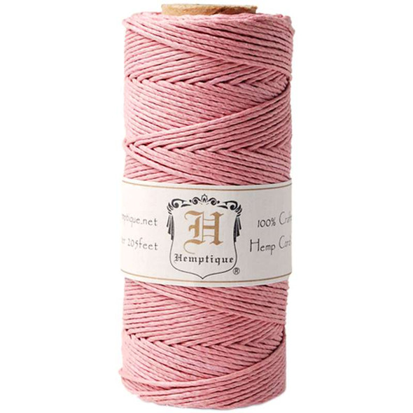 Hemp Cord Spool 20lb 205' Dusty Pink