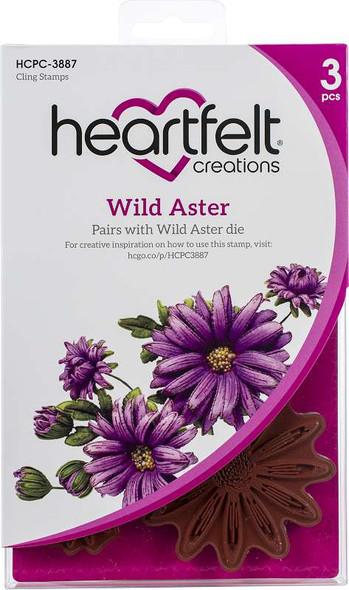 "Heartfelt Creations Cut /& Emboss Dies Wild Aster 2/"" to 5/"" 817550023768"