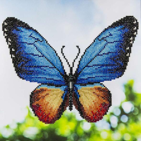"Leisure Arts Diamond Art Intermediate Kit 12""X12"" Butterfly"