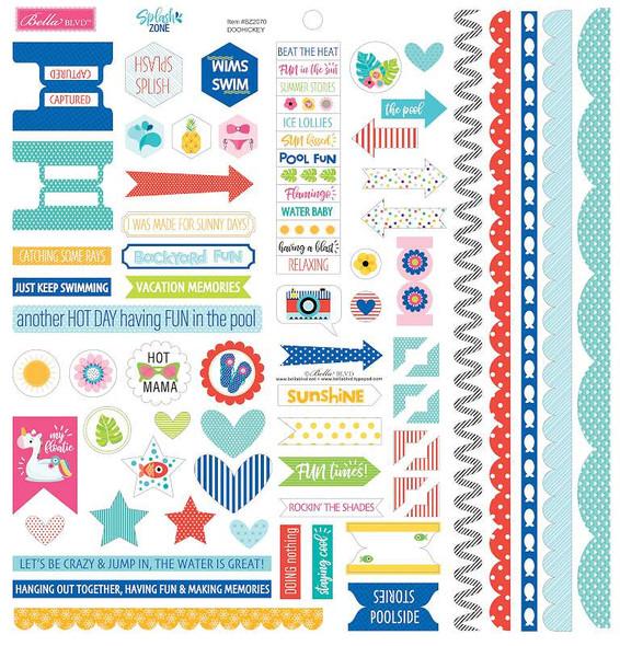 """Splash Zone Cardstock Stickers 12""""X12"""" Doohickey"""