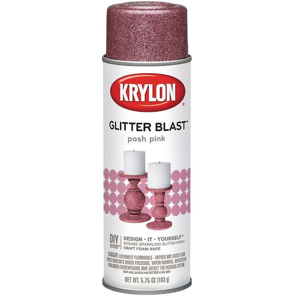 Glitter Blast Aerosol Spray 5.75oz Posh Pink
