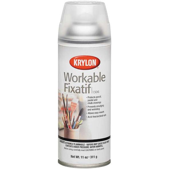 Workable Fixatif Aerosol Spray  11oz