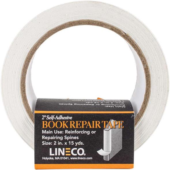 """Self-Adhesive Book Repair Tape White 2""""X15yd"""