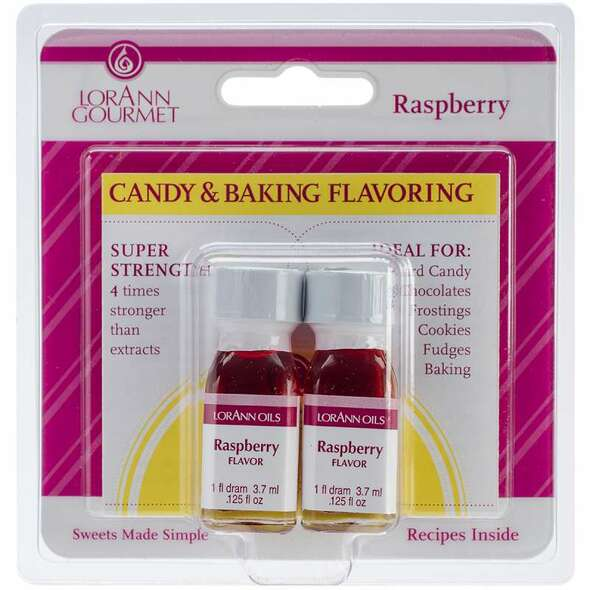 Candy & Baking Flavoring .125oz 2/Pkg Raspberry