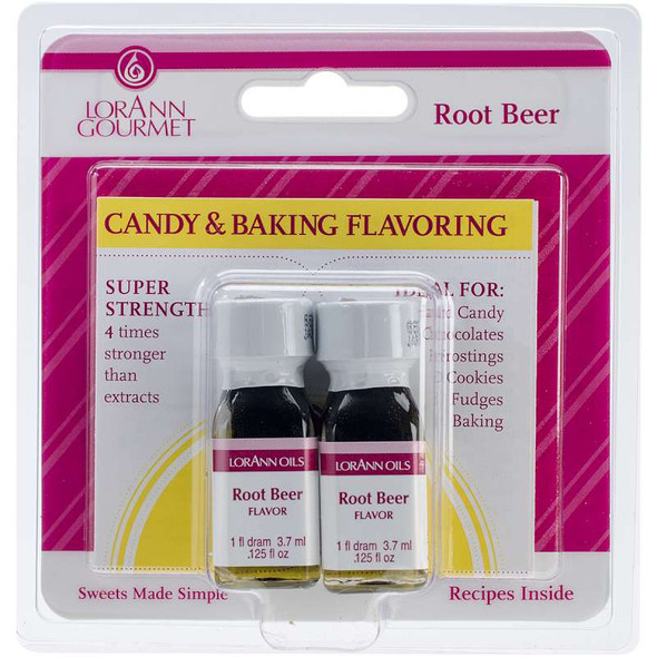 Candy & Baking Flavoring .125oz 2/Pkg Root Beer