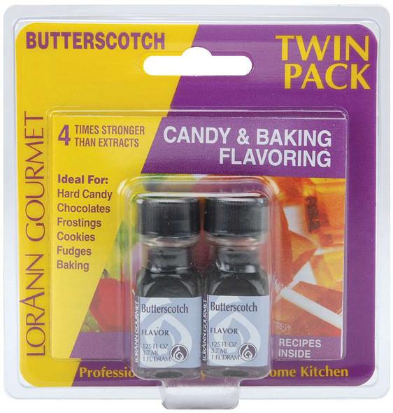 Candy & Baking Flavoring .125oz 2/Pkg Butterscotch