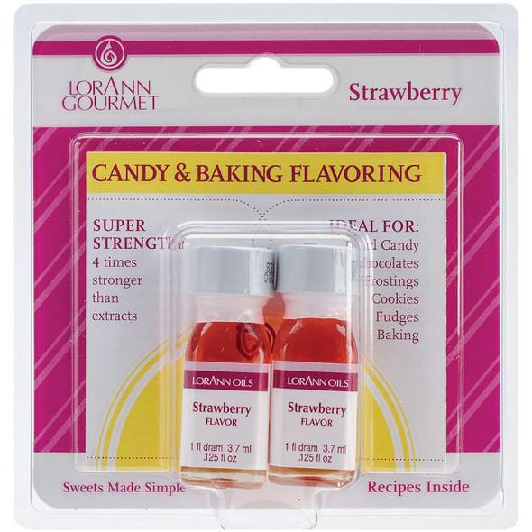Candy & Baking Flavoring .125oz 2/Pkg Strawberry