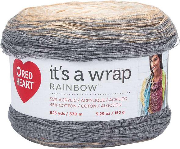 Red Heart It's A Wrap Rainbow Yarn Foggy
