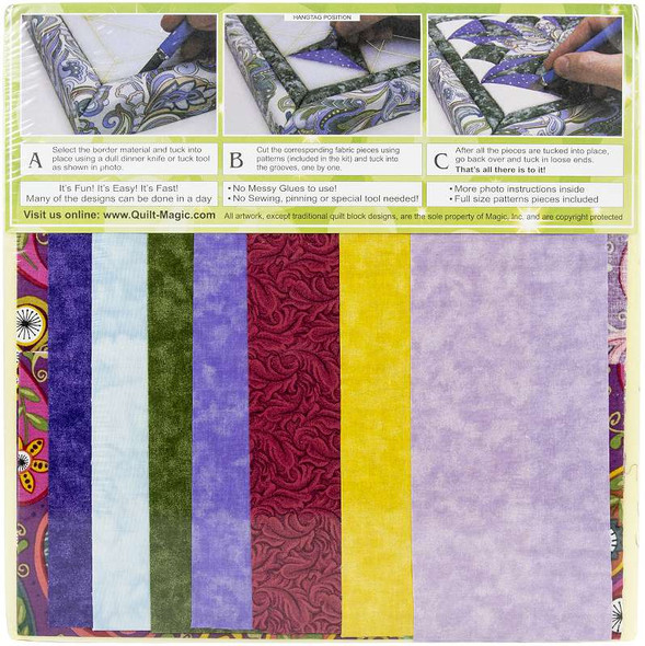 Quilt-Magic No Sew Wall Hanging Kit Butterfly
