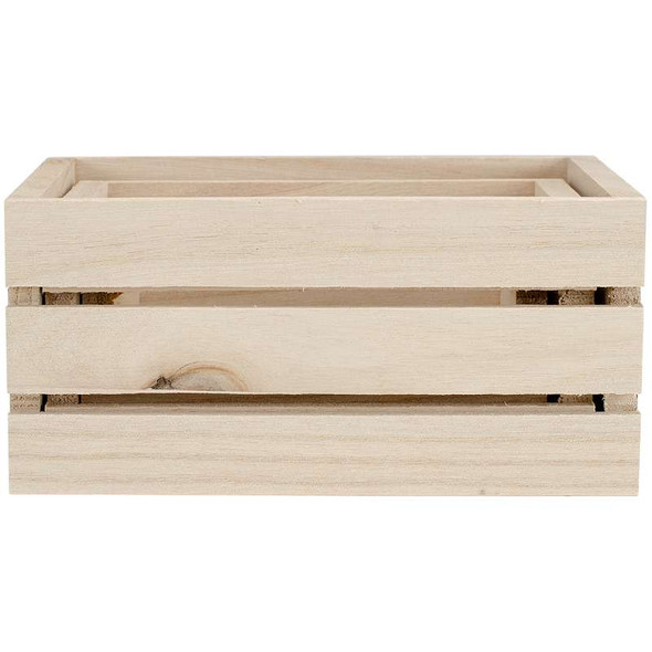 Wood Craft Crate Caddy Set 3/Pkg