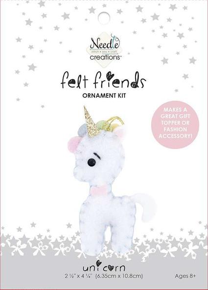 Fabric Editions Needle Creations Felt Ornament Kit  Unicorn