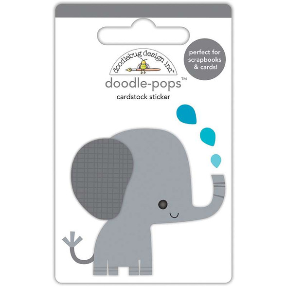 Doodlebug Doodle-Pops 3D Stickers  At The Zoo Eddie Elephant