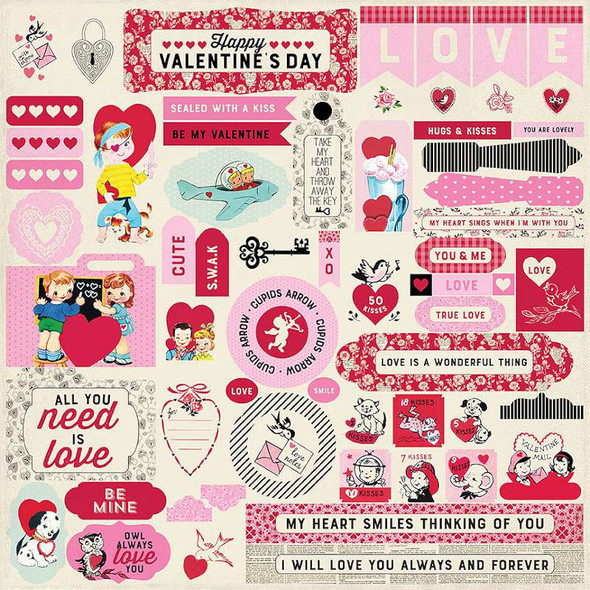 """Love Notes Cardstock Stickers 12""""X12"""" Details"""