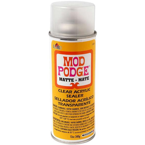 Mod Podge Clear Acrylic Aerosol Sealer 12oz Matte