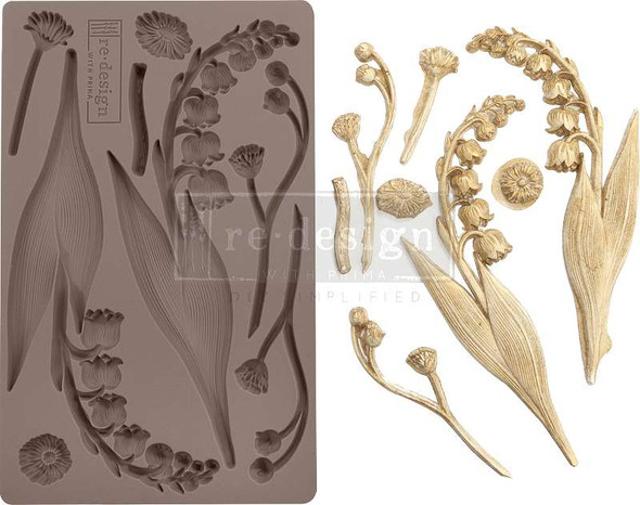 """Prima Marketing Re-Design Mould 5""""X8""""X8mm Bell Orchids"""