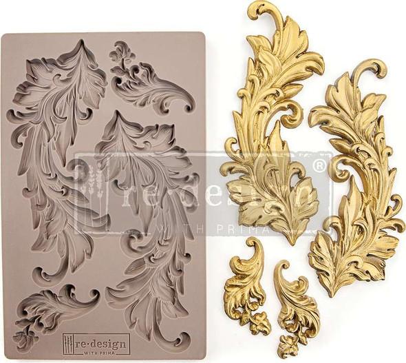 "Prima Marketing Re-Design Mould 5""X8""X8mm Baroque Swirls"