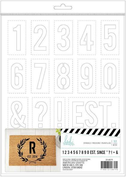 Heidi Swapp DIY Doormats Stencil Numbers