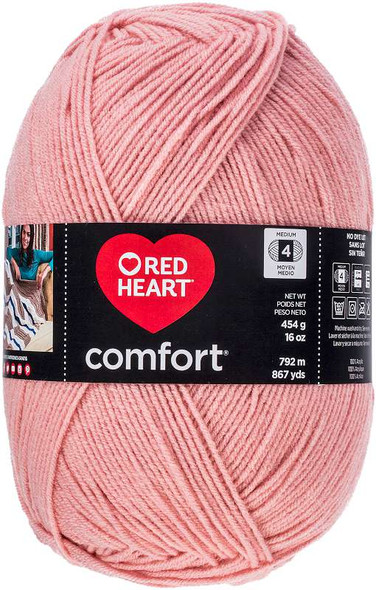 Red Heart Comfort Yarn Petal Pink
