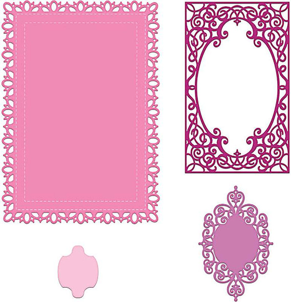 Heartfelt Creations Frame A Card Dies Intricate Swirl Frames