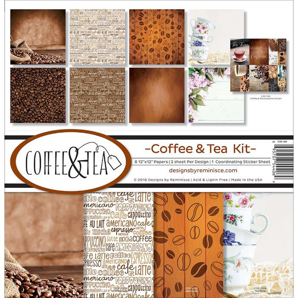 "Reminisce Collection Kit 12""X12"" Coffee & Tea"