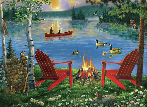 """Paint By Number Kit 15.375""""X11.25"""" Lakeside Retreat"""