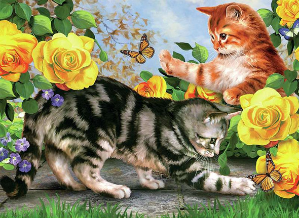 """Junior Large Paint By Number Kit 15.25""""X11.25"""" Kitten Play"""