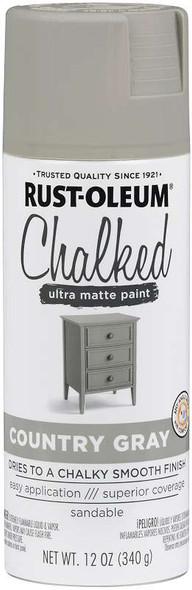 Rust-Oleum Chalked Matte Spray Paint 12oz Country Gray