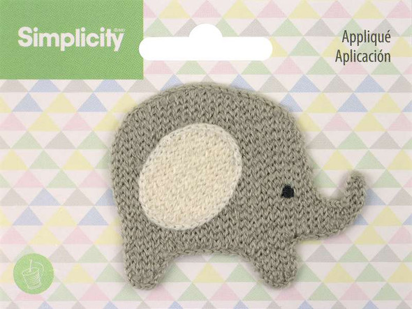 Wrights Baby Sew-On Applique Elephant