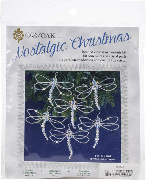 Nostalgic Christmas Beaded Crystal Ornament Kit Crystal Dragonflies