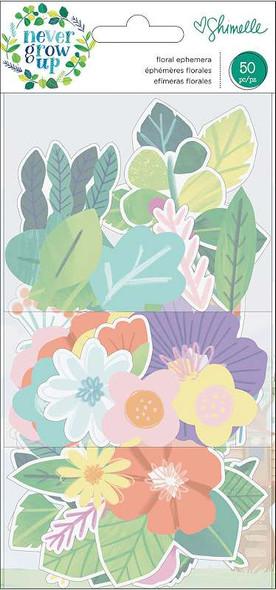 Shimelle Never Grow Up Ephemera Cardstock Die-Cuts 50/Pkg Floral
