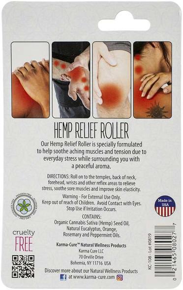 Karma-Cure Hemp Relief Oil .5oz Roller Bottle