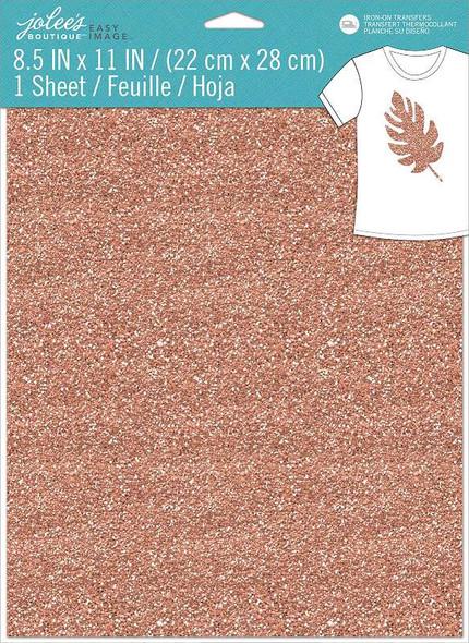 "Jolee's Boutique Easy Image 8.5""X11"" Single Transfer Sheet Rose Gold Glitter"