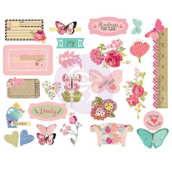 Butterfly Bliss Chipboard Stickers 25/Pkg