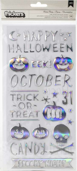 Hey, Pumpkin Thickers Stickers 131/Pkg Hocus Pocus Phrase & Icons/Puffy